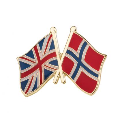 Pins - Flagg - England / Norge - Vennskap