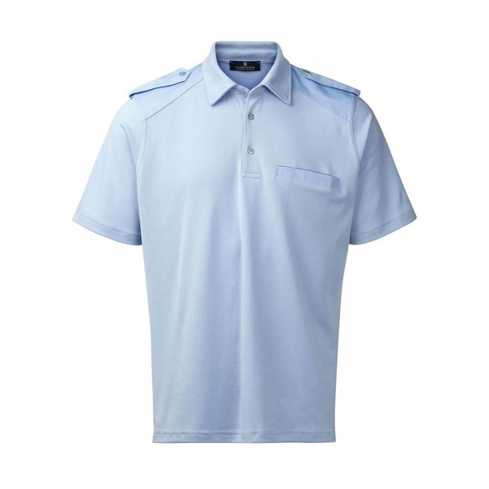 Piquet med klaffer for distinksjoner Marineblå Norsk Uniform