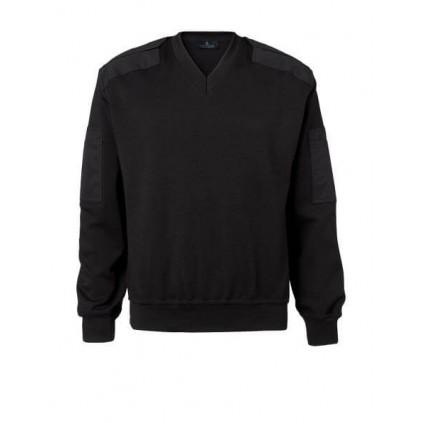 V-hals pullover - sort