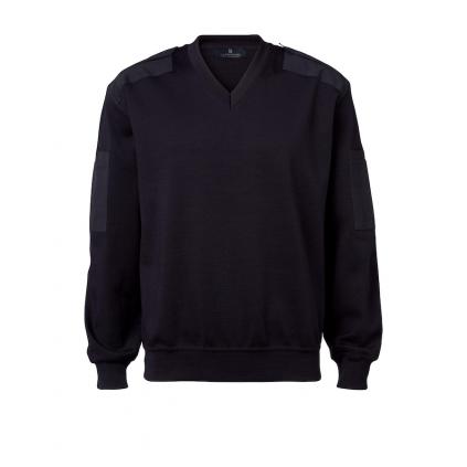 V-hals pullover - Marineblå