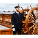 Uniformjakke - Offiserjakke - Med distinksjoner og striper - Herre