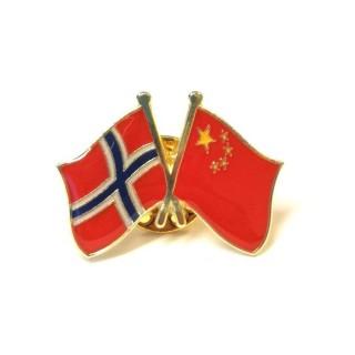 Pins - Flagg - Kina / Norge - Vennskap