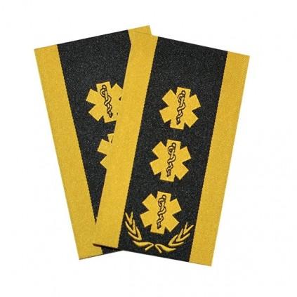 Ambulanse - 3 stjerner, laurbær og slitekant - Avdelingssjef/Ambulansesjef - Distinksjoner