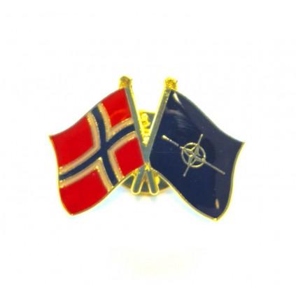 Pins - Flagg - Norge / Nato - Vennskap