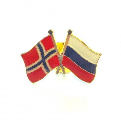 Pins - Flagg - Norge / Russland - Vennskap
