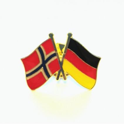 Pins - Flagg - Norge / Tyskland - Vennskap