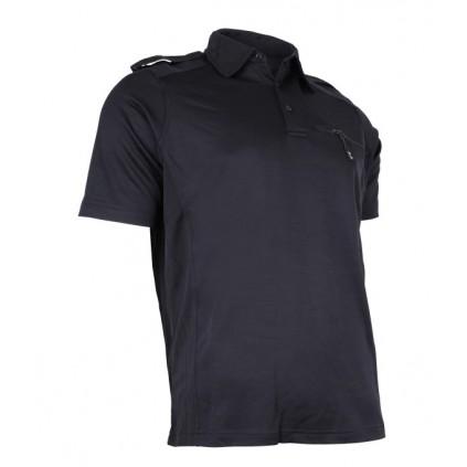 Piqueskjorte - Marineblå - Sportswool - Wenaas