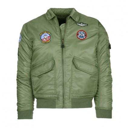 Pilotjakke - Barn - Top Gun CWU - Grønn