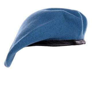 Beret - 100 % ull -  FN blå