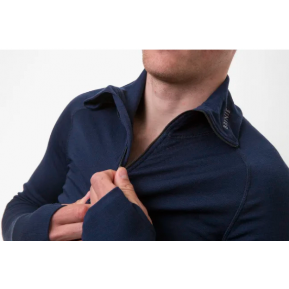 Arctic zip polo shirt - Brynje - Marineblå