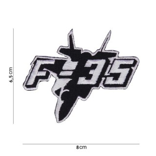 Patch - F-35 jagerfly med tekst