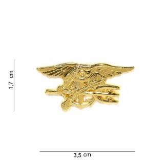 Merke / Pin - US Navy Seals - Gull - Liten