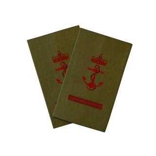 OR1+ Ledende menig - Sjøforsvaret grønn felt