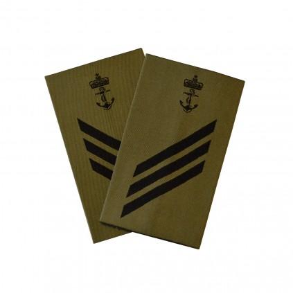 OR4 Konstabel - Sjøforsvaret grønn felt