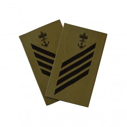 OR4+ Ledende konstabel - Sjøforsvaret grønn felt