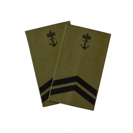 OR6 Skvadronsmester - Sjøforsvaret grønn felt