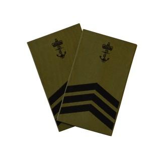 OR7 Flotiljemester - Sjøforsvaret grønn felt