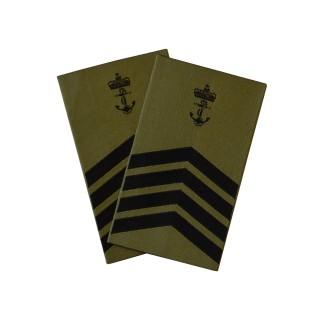 OR8 Orlogsmester - Sjøforsvaret grønn felt