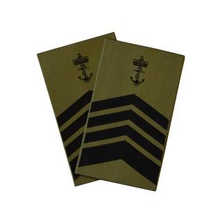 OR9 Flaggmester - Sjøforsvaret grønn felt