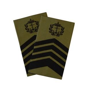 OR9 Sjefsmester - Sjøforsvaret grønn felt