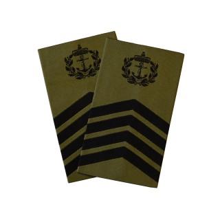 OR8 Sjefsmester - Sjøforsvaret grønn felt