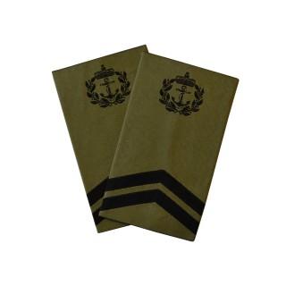 OR6 Sjefsmester - Sjøforsvaret grønn felt