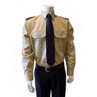 Skjorte med lang erm - Selje - Kaki