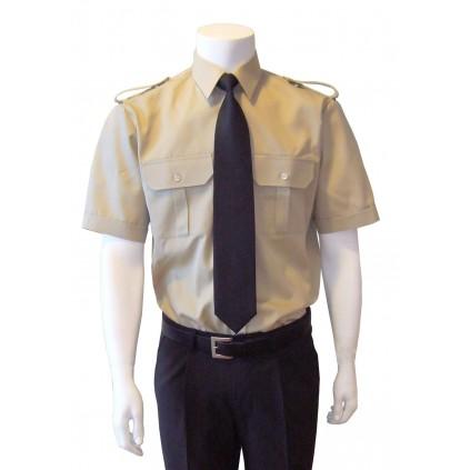 Skjorte med kort erm - Selje - Kaki