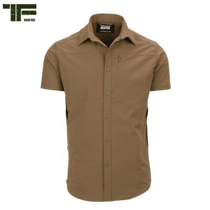 Skjorte - Echo Two - Stretch - Kort erm - Ørken