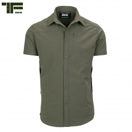 Skjorte - Echo Two - Stretch - Kort erm - Grønn