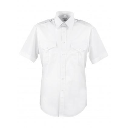 Skjorte med kort erm - Slim-fit - Selje - Hvit