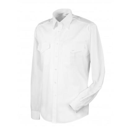 Skjorte med lang erm - Slim-fit - Selje - Hvit