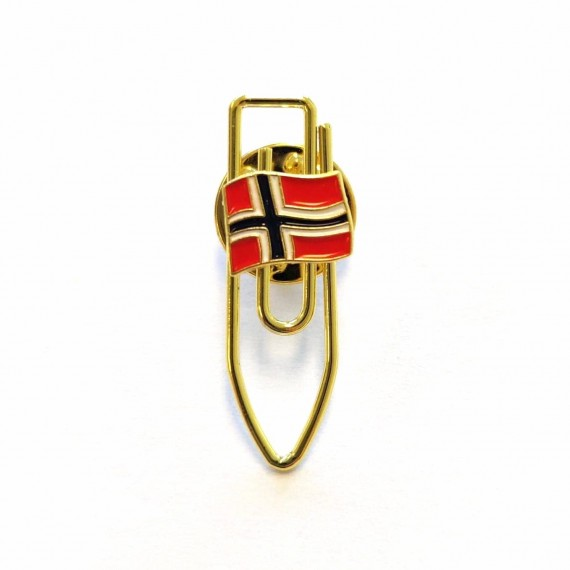 Pin - Frigjøringspin - Norsk flagg på binders