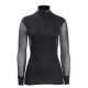 Lady Wool Thermo Zip Polo - Brynje - Sort