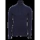 Arctic zip polo shirt - 3/4 hals - Brynje - Marineblå