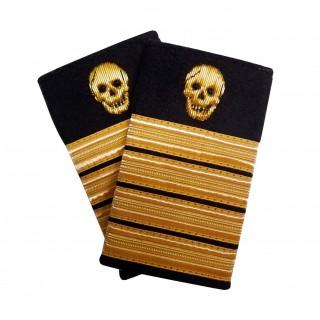 Pirat - Sjørøver - Dødningshode og 4 gullstriper - Distinksjoner