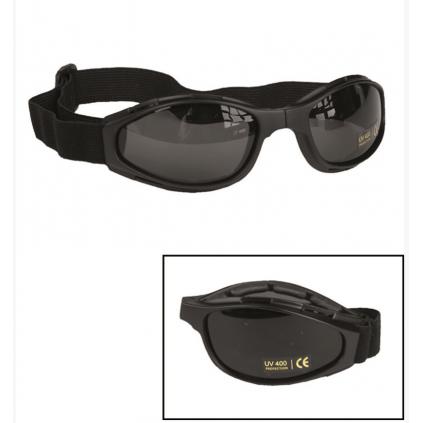 Solbriller - Sammenleggbare sportsbriller - Sort - Miltec