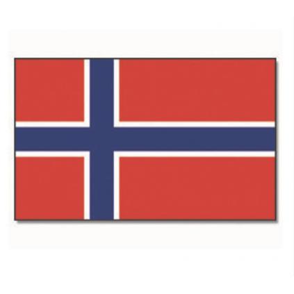 Norsk flagg med feste - 90 x 150 cm - Miltec