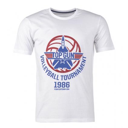 T-skjorte - Top Gun - Volleyball Tournament - Hvit - Paramount - Miltec
