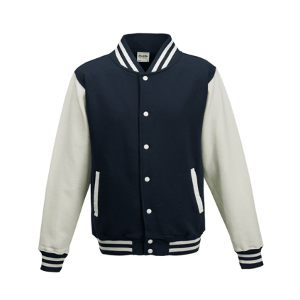 College jakke til barn - Varsity - Marineblå / Hvit