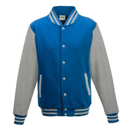 College jakke til barn - Varsity - Lys blå / Grå