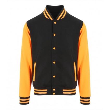 College jakke - Varsity - Sort / Orange