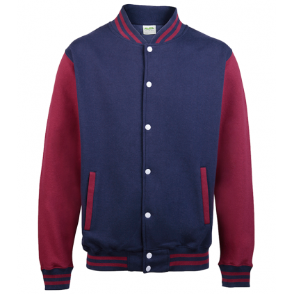 College jakke - Varsity - Marineblå / Burgunder