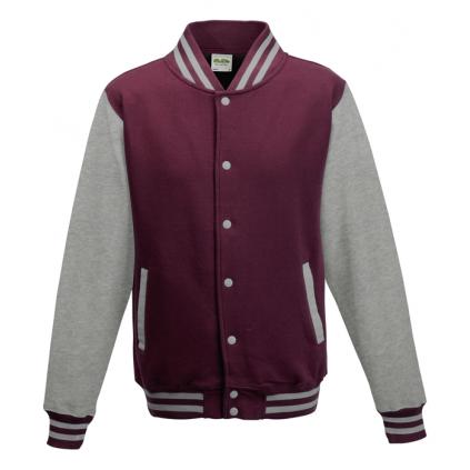 College jakke - Varsity - Burgunder / Grå