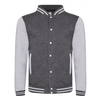 College jakke - Varsity - Koksgrå / Lys grå