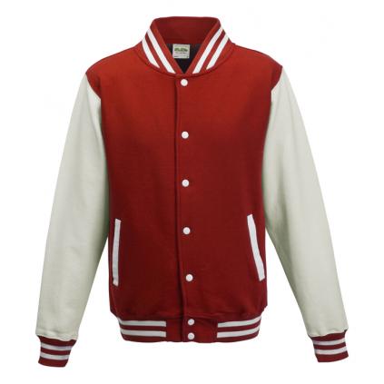 College jakke - Varsity - Rød / Hvit