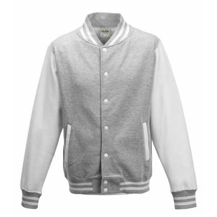 College jakke - Varsity - Lys grå / Hvit