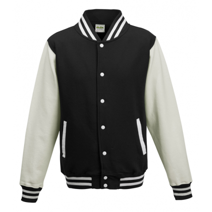 College jakke - Varsity - Sort / Hvit