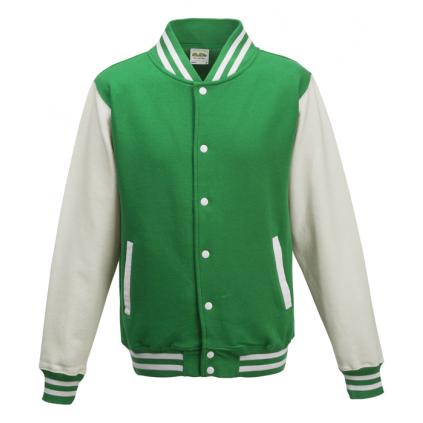 College jakke - Varsity - Grønn / Hvit