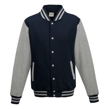 College jakke - Varsity - Mørk blå / Grå